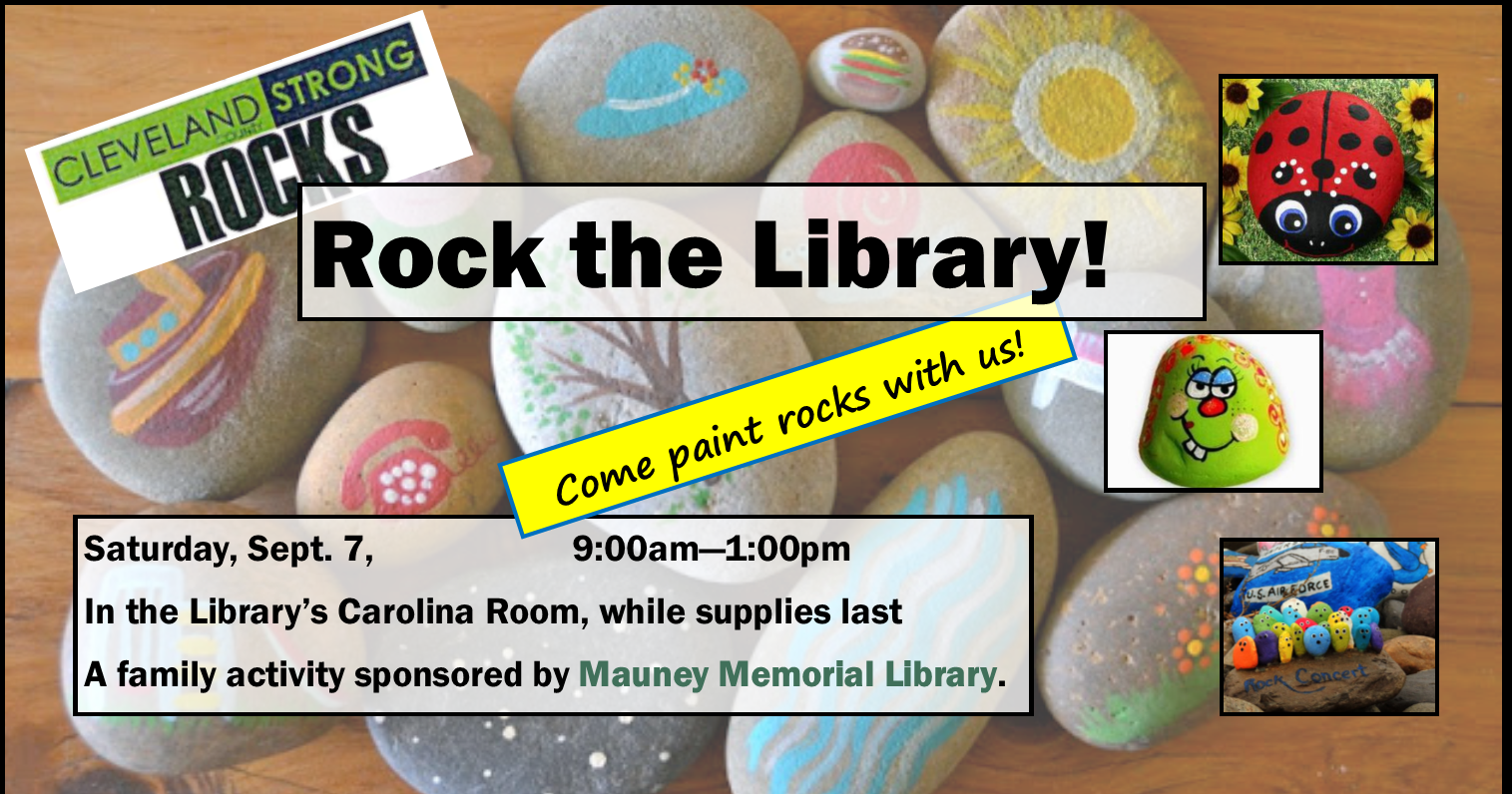 Rock the Library Rock Painting