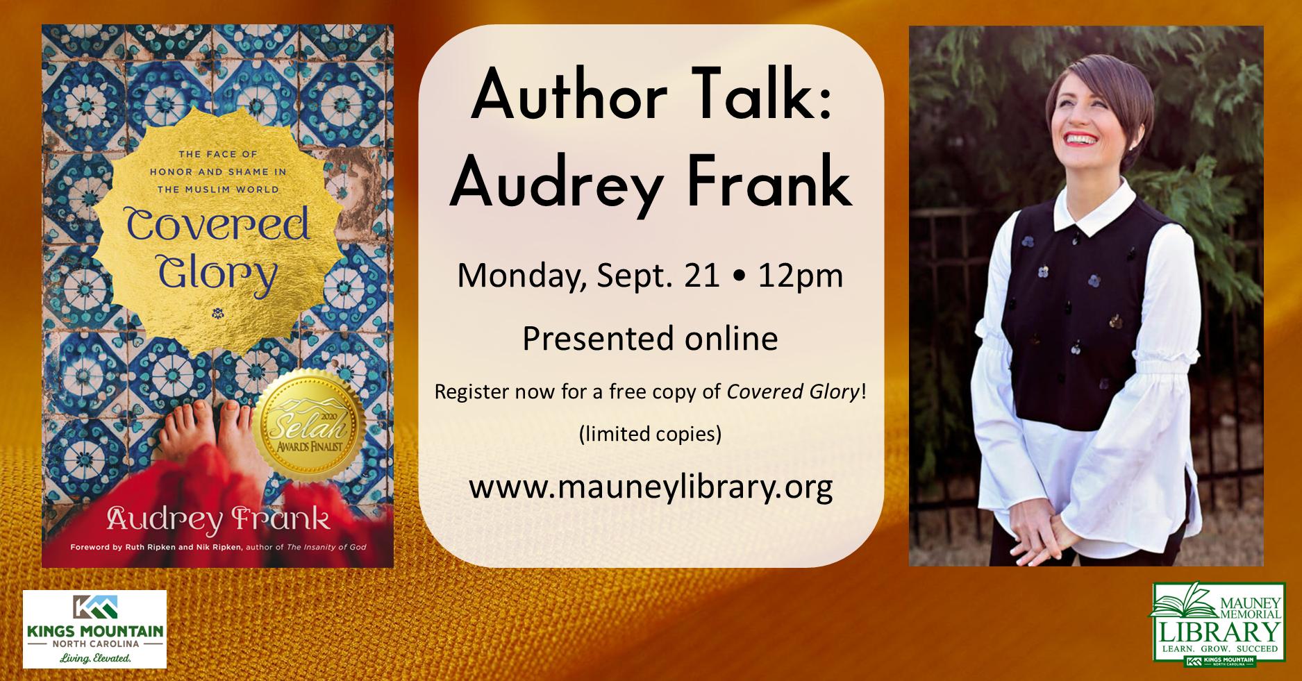 Author Talk: Audrey Frank