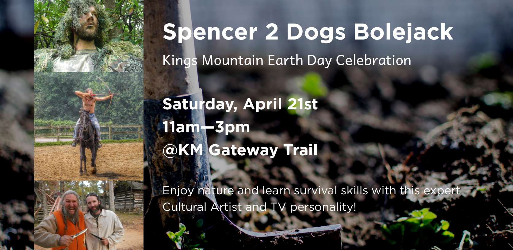 Spencer 2 Dogs Bolejack: Kings Mountain Earth Day Celebration