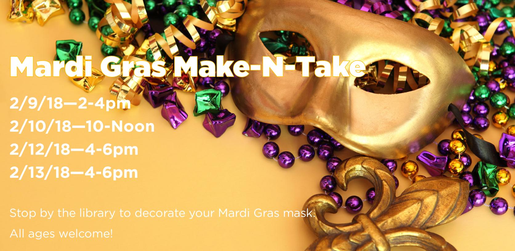 Mardi Gras Make-N-Take