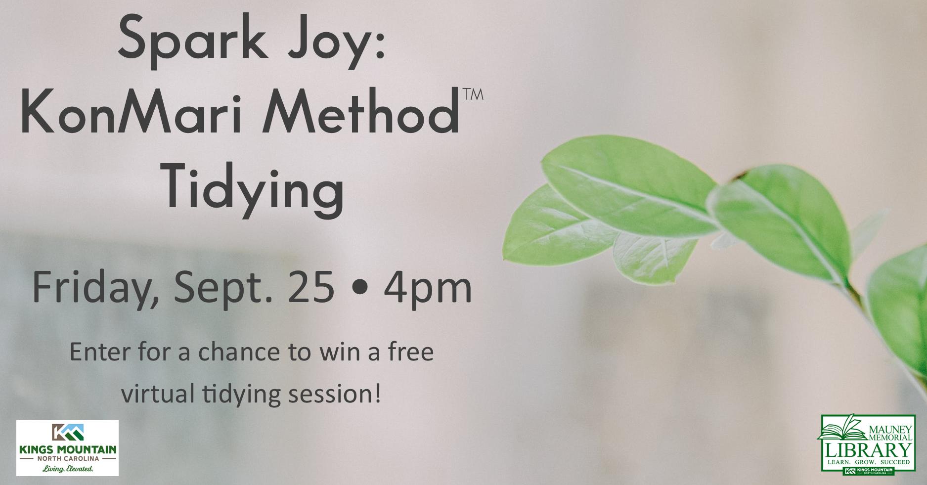 Spark Joy: KonMari Method Tidying