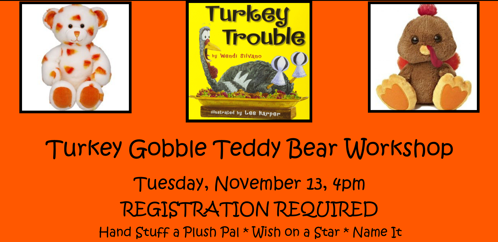 Turkey Gobble Teddy Bear Workshop