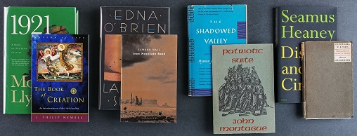 Various Irish Literature volumes owned by Special Collections.