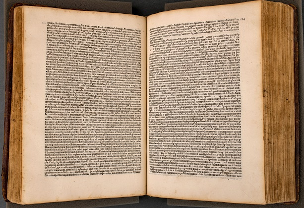 The Library's oldest work, Epistolae sancti Hieronymi (opened).