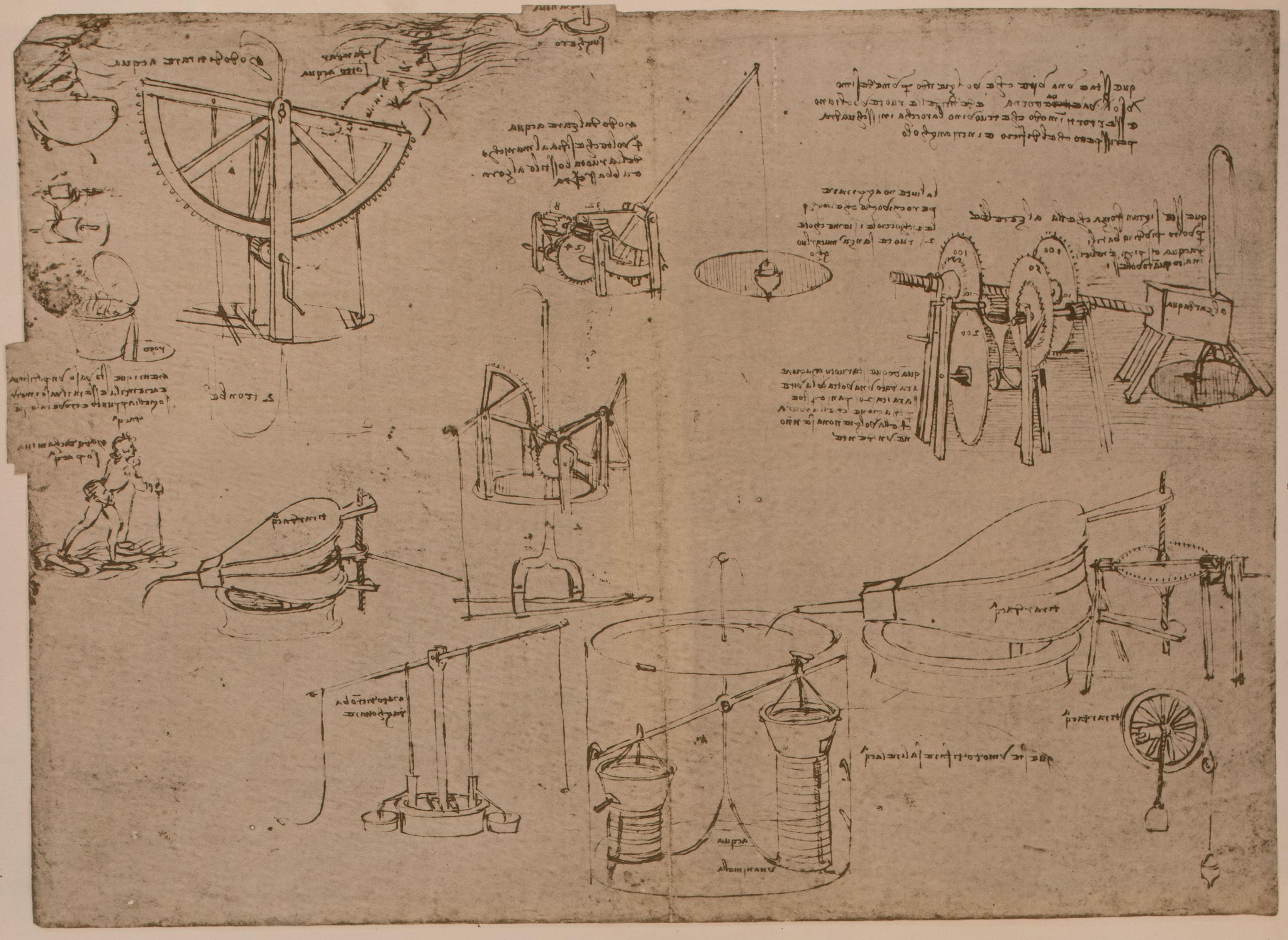 Page from Leonardo da Vinci's Codex Atlanticus (facsimile).