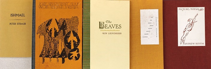 Books in the Poetry Collection housed in Special Collections.