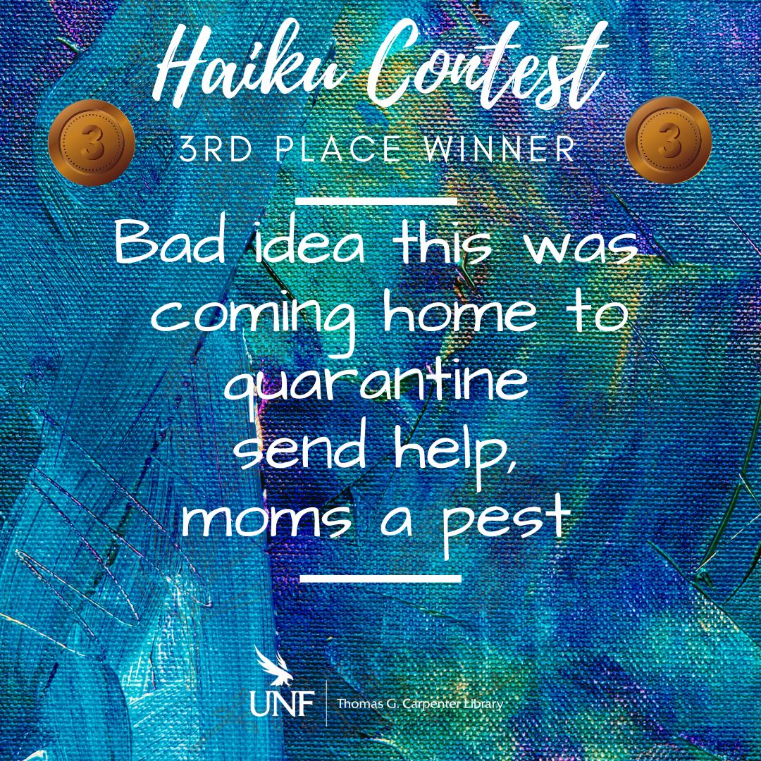 Haiku Contest Winner