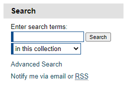 Screenshot of the UNF Digital Commons search engine.
