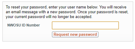 Login screen asking for student identification number and password