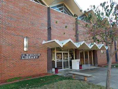 Facade of the library