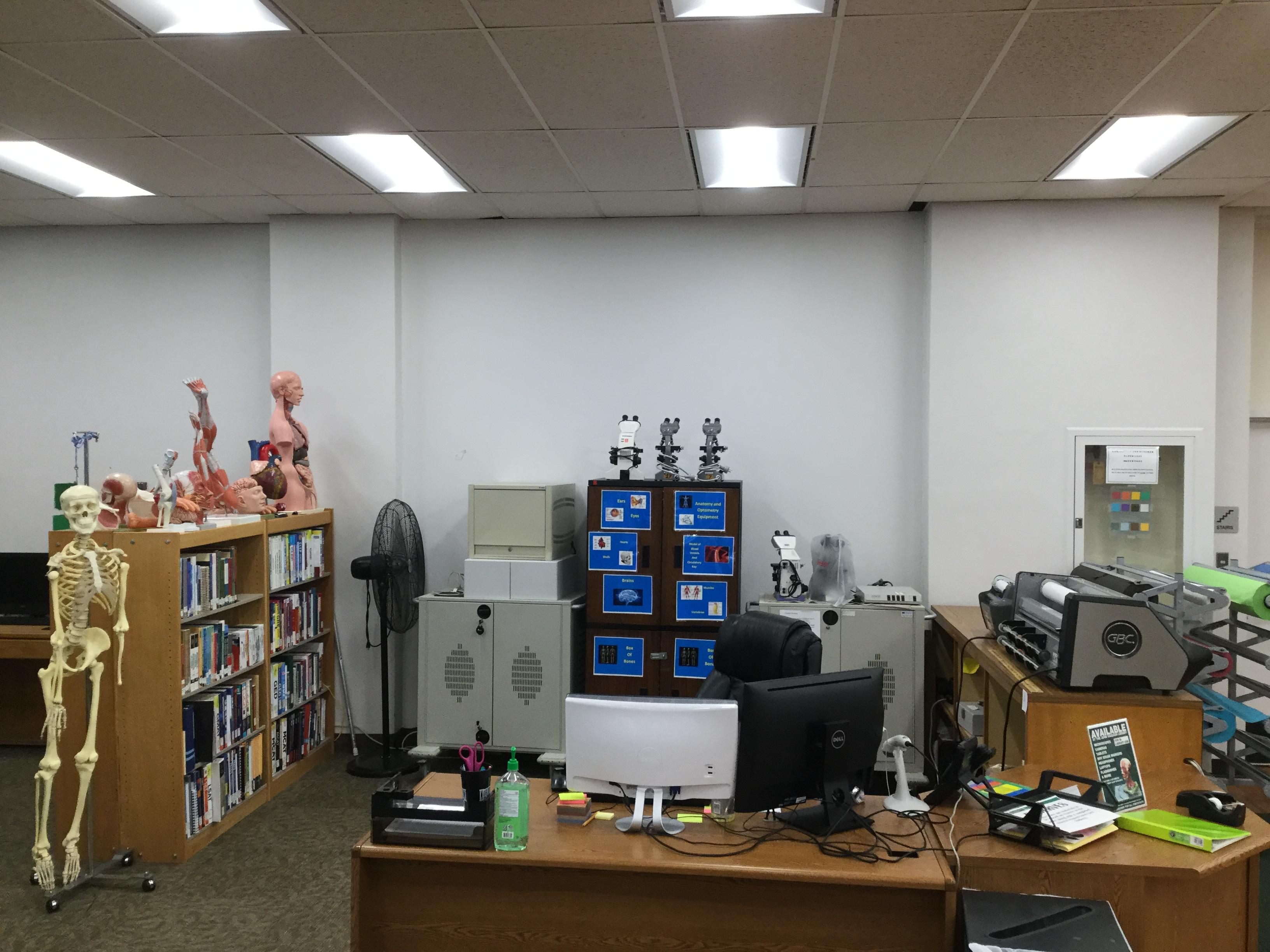 Reserve Desk, 1st Floor of the John Vaughan Library
