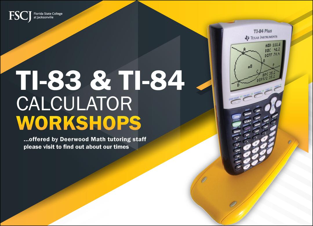 Calculator Workshop. Click for more Information.