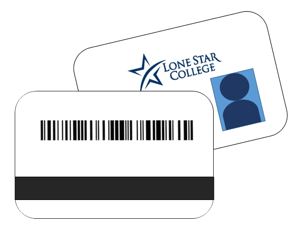 Illustration of front and back of a student ID card