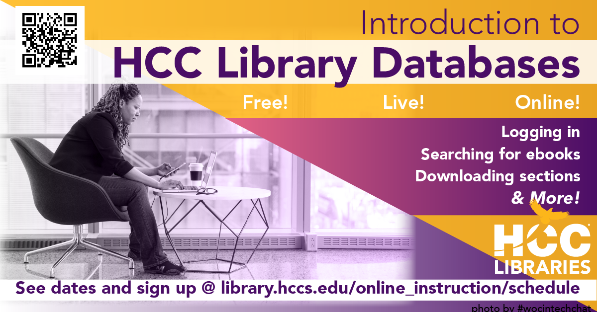 Introduction to HCC Library Databases (RB)