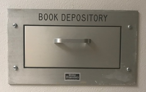 Book Depository in the wall of Burns Hall
