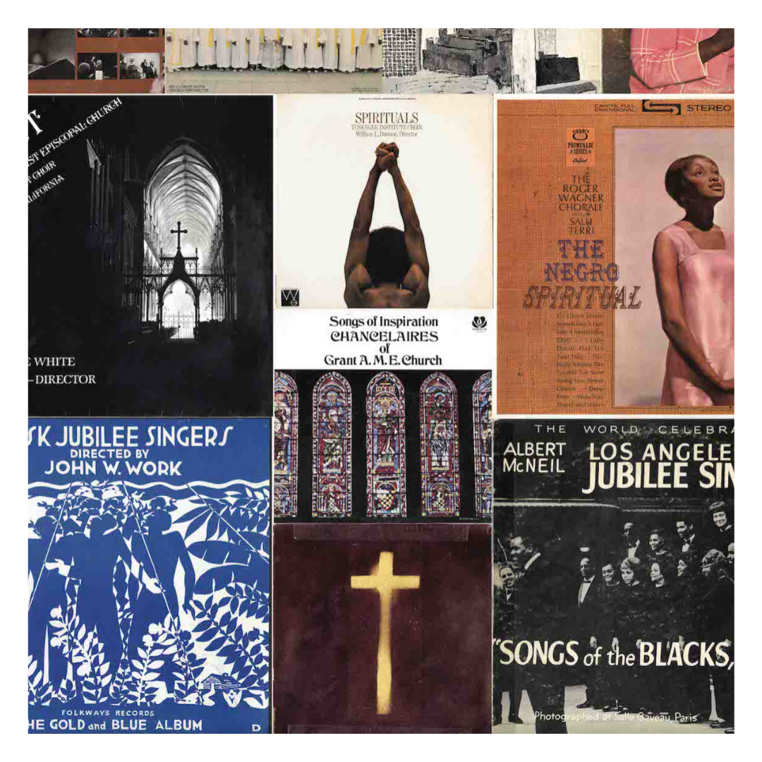 Online Exhibit with covers from African American Sacred Music Collection.