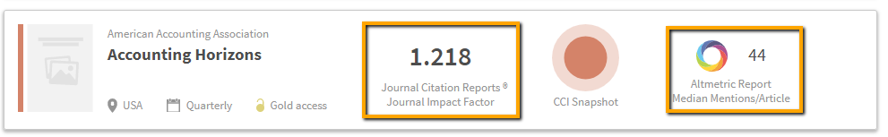 [ Screenshot of Journal Citation Reports ]