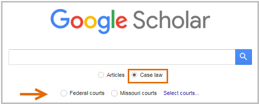 [ select case law and type of court ]
