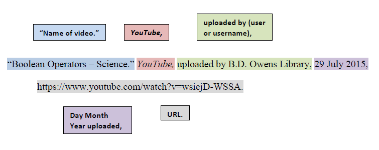[ MLA Citation Example for YouTube Video ]