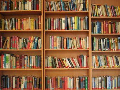 [ books on shelves ]