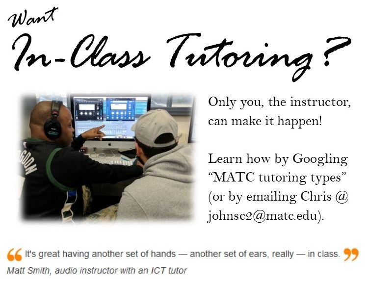 Want In-Class Tutoring?