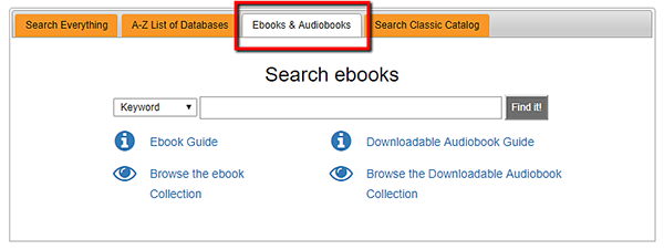 screenshot or ebooks tab
