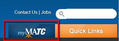 screenshot of myMATC link