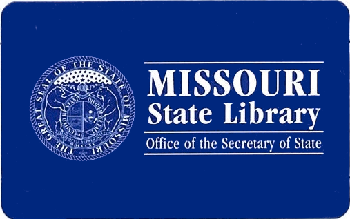 Missouri State Library card front