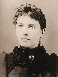 black and white photo of Laura Ingalls Wilder