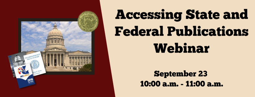 Accessing State and Federal Publications webinar