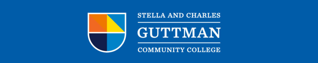 Stella and Charles Guttman Community College logo.