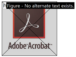adobe acrobat figure to show image with no alternative text.