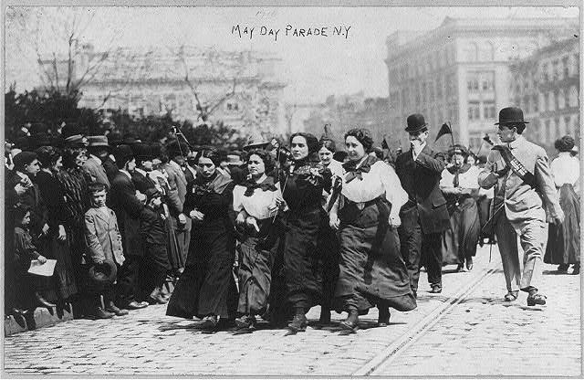 May Day Parade, New York, 1910 (Library of Congress)