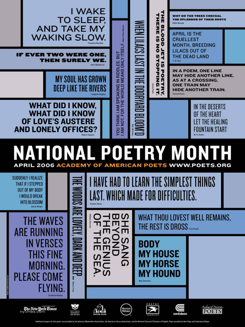 Poster of National Poetry Month