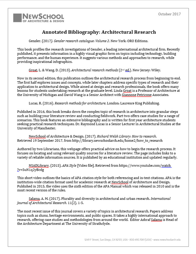 Example Apa Annotated Bibliography