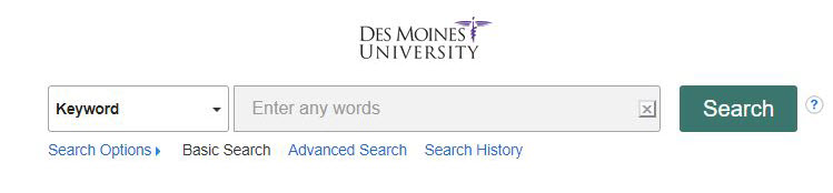 Picture of DMU Discovery Search Box