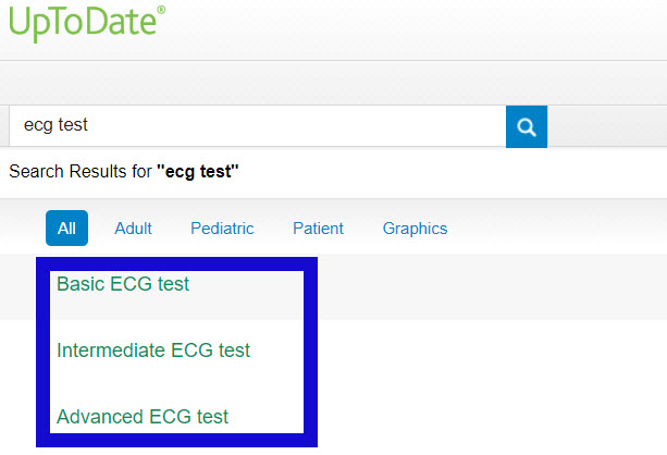 choose ECG test option