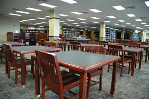 Image of Library study tables