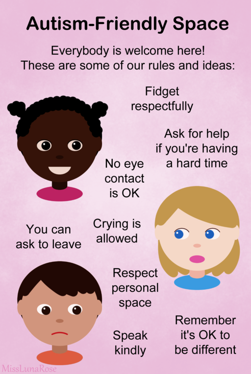 Autism-friendly space poster.