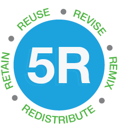 5R, resuse, revise, remix, redistribute and retain.