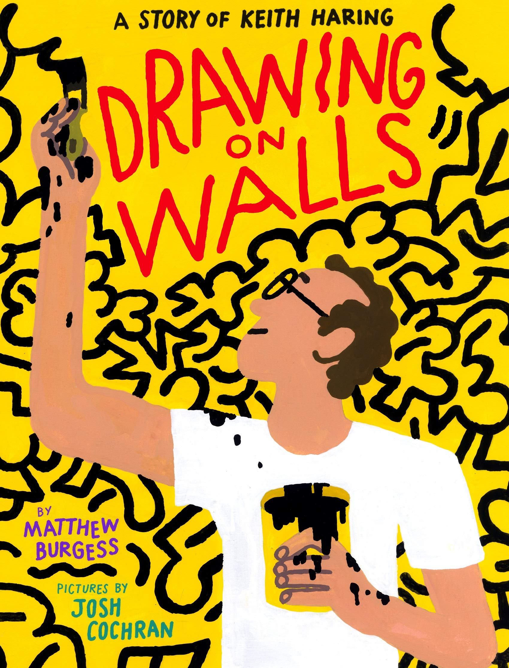 cover of Matthew Burgess and Josh Cochran(illus.)	Drawing On Walls: A Story of Keith Haring. Enchanted Lion Books, 2020.	N6537.H348 A4 2020