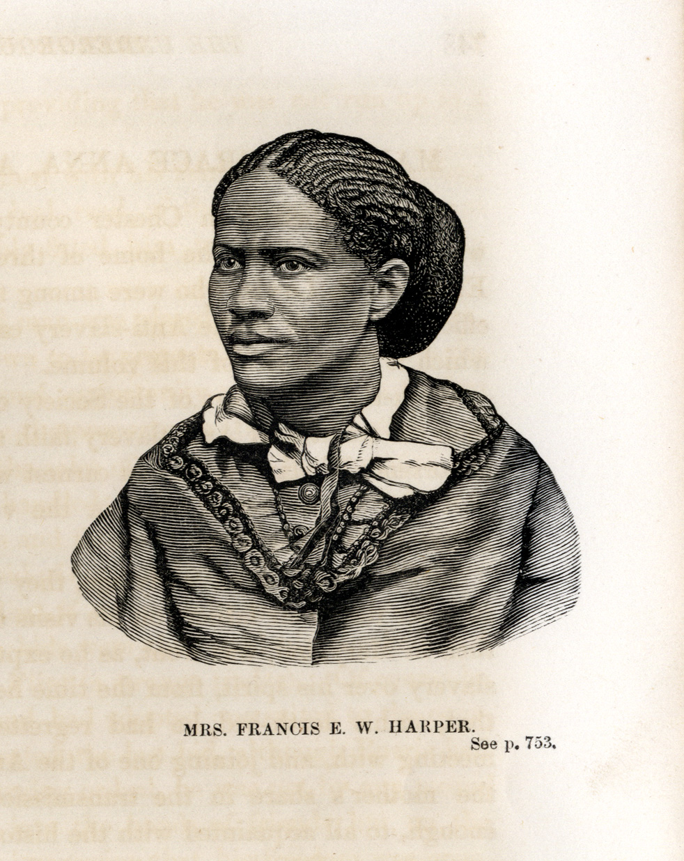 illustration of Mrs. Francis E. W. Harper from Underground Railroad