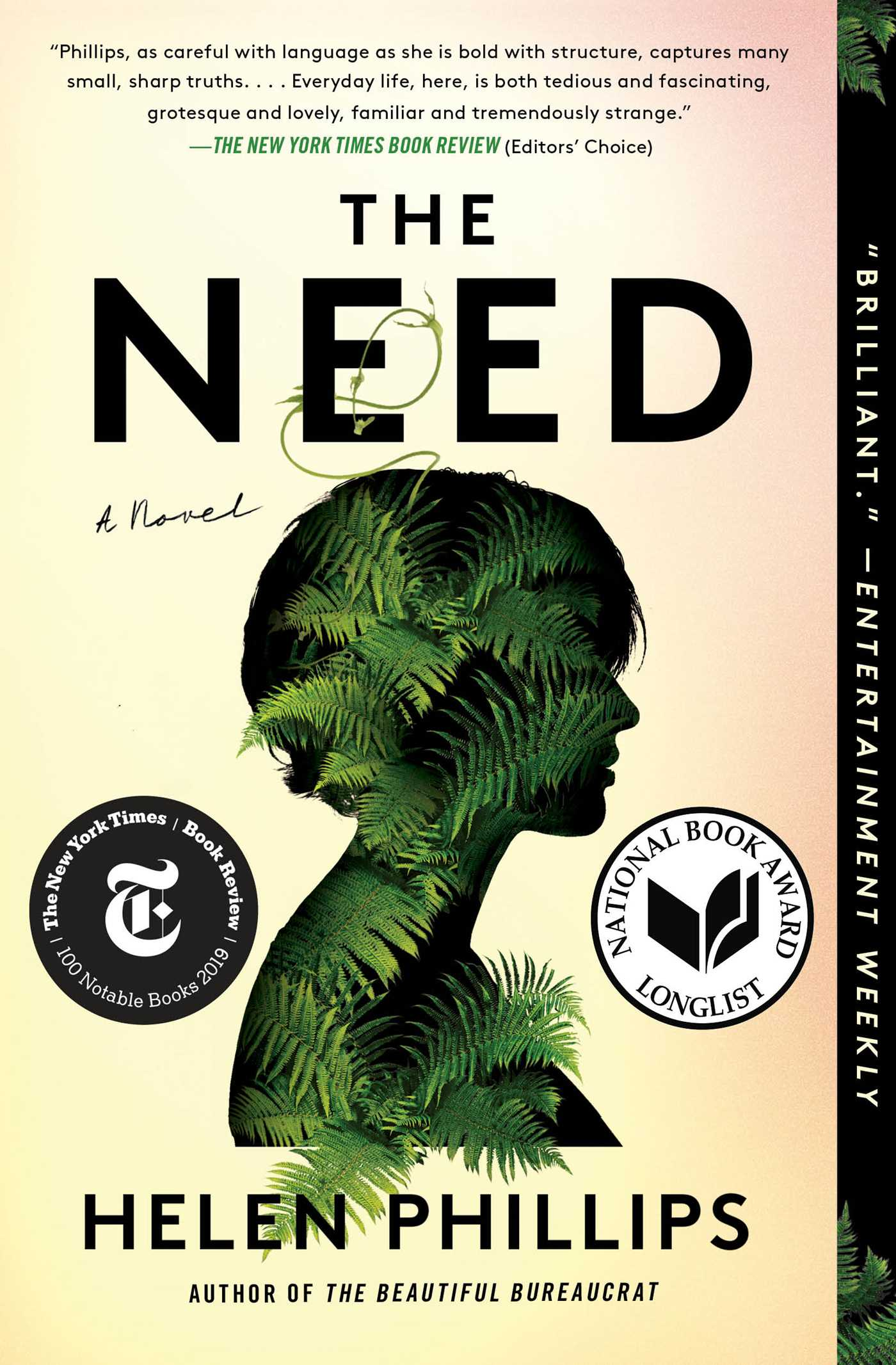 cover of Helen Phillips	The Need. Simon & Schuster, 2019.	PS3616 .H45565 N44 2019