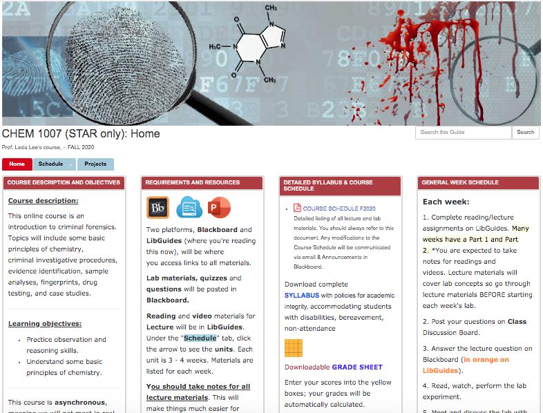 link to chem 1007 star site