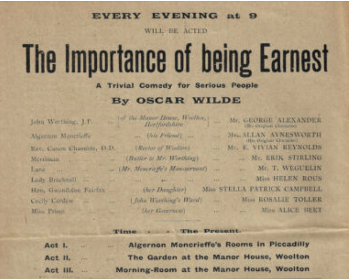 Wilde, The Importance of Being Ernest