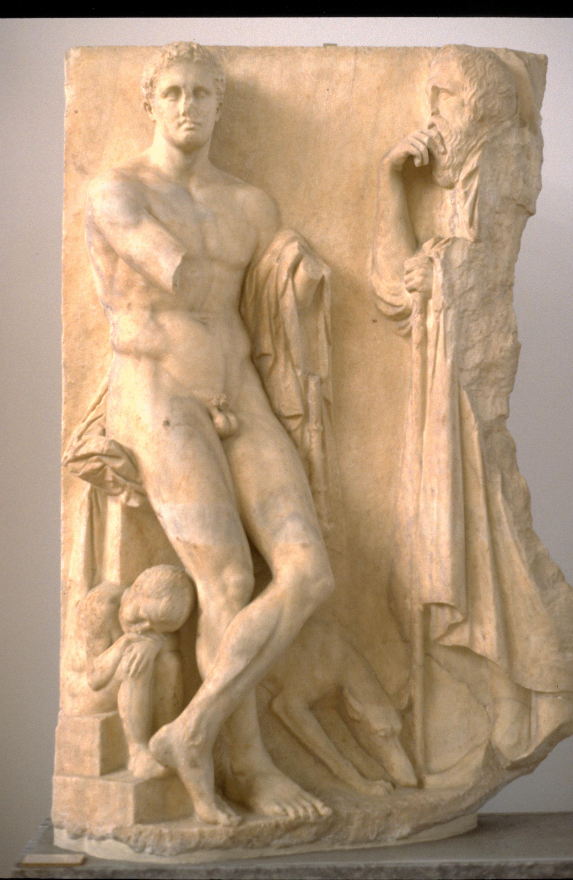 funeral stele, link to Thucydides page