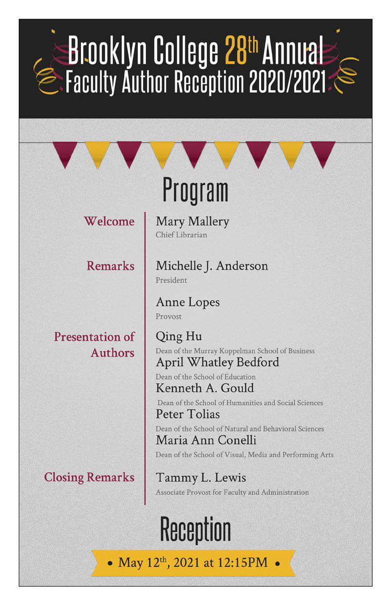 link to annual Book Party program 2021