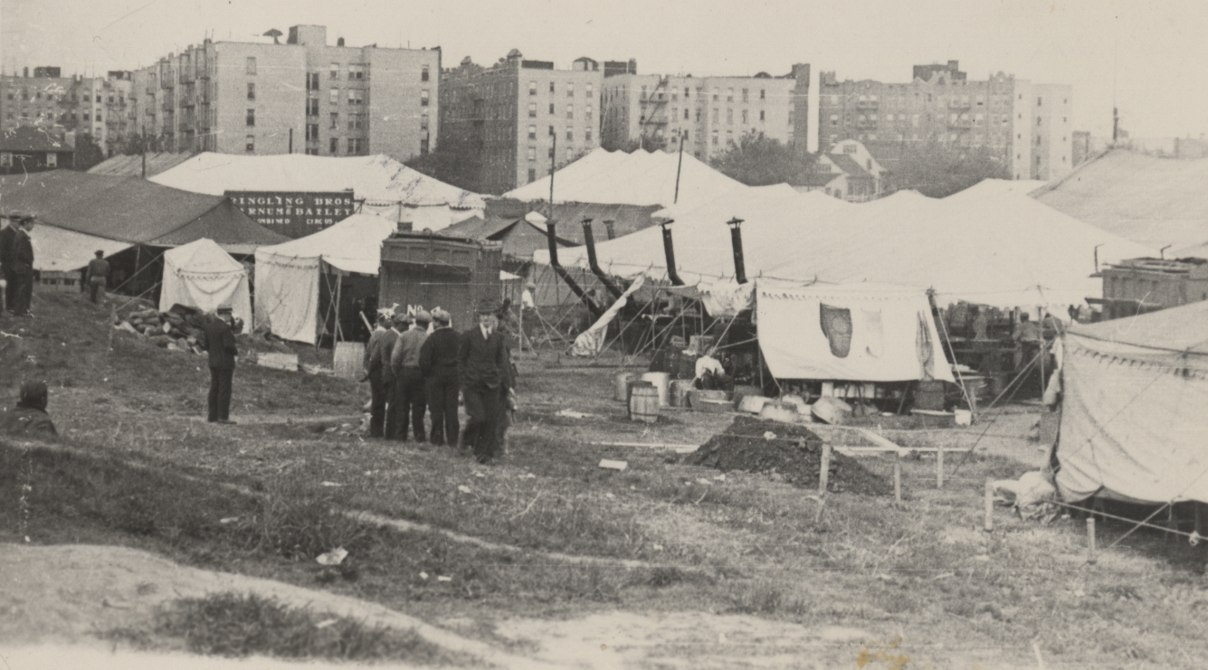 Circus Grounds on Site of Future Midwood Campus, c. 1920