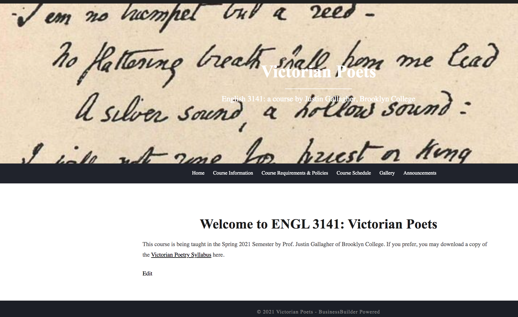 ENGL 3141: Victorian Poets