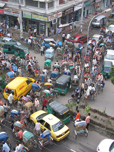 Image-Driving in Dhaka, Bangladesh